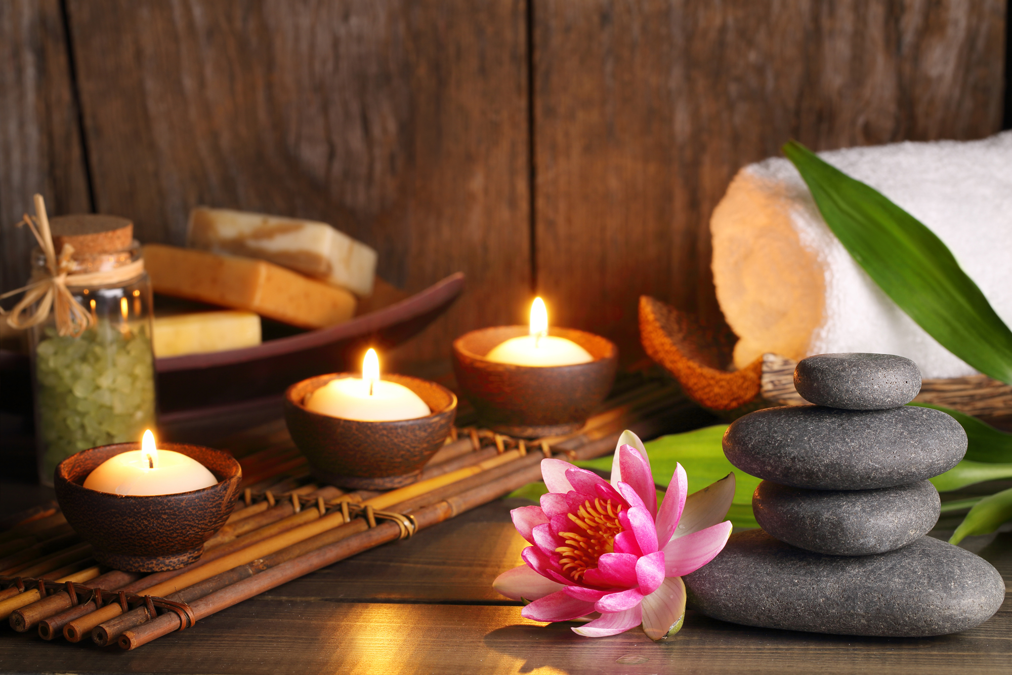 gommage et massage bougie